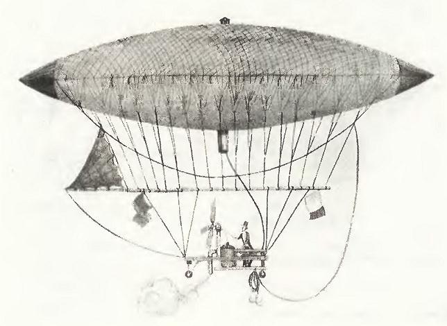 Дирижабль с паровым двигателем анри